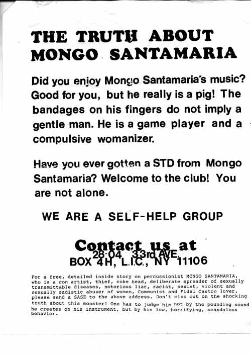 Image of The Truth about Mongo Santamaria